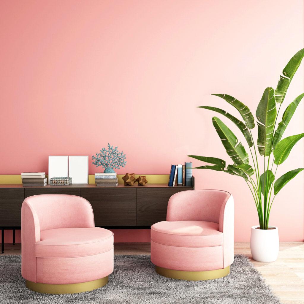 Warna pink muda memang feminim, namun mampu memberikan kehangatan - Rumah123.com