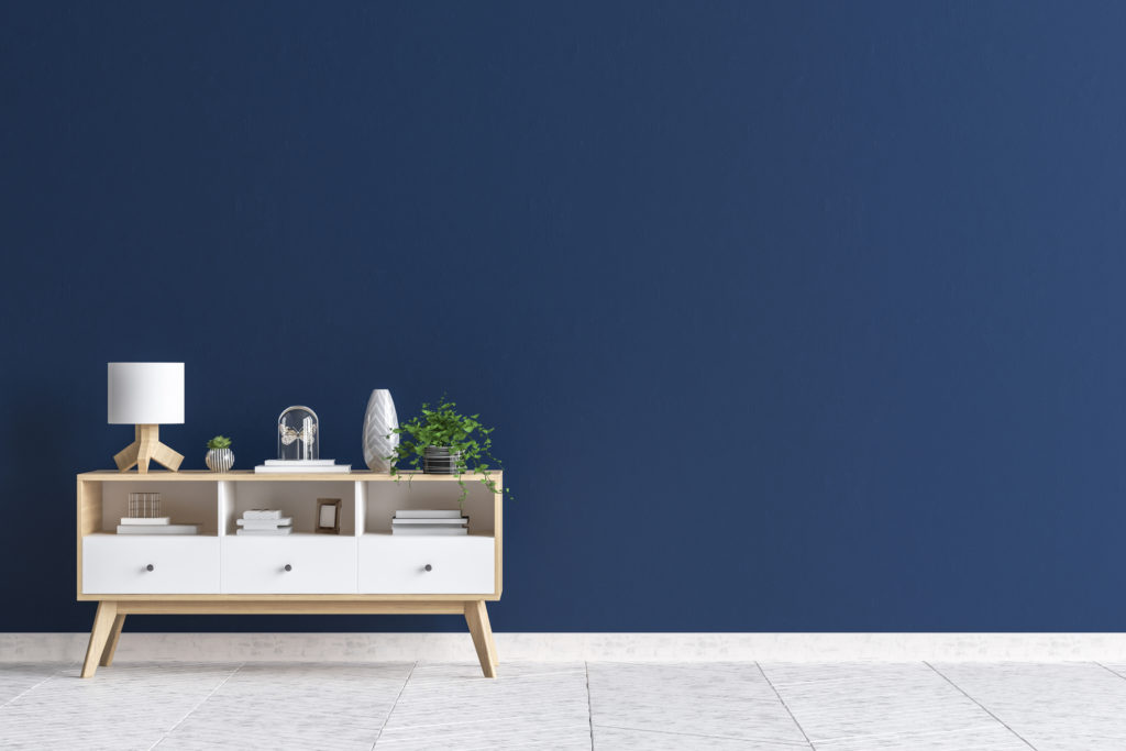 Biru keabu-abuan bisa digunakan untuk rumah dengan konsep Skandinavian - Rumah123.com