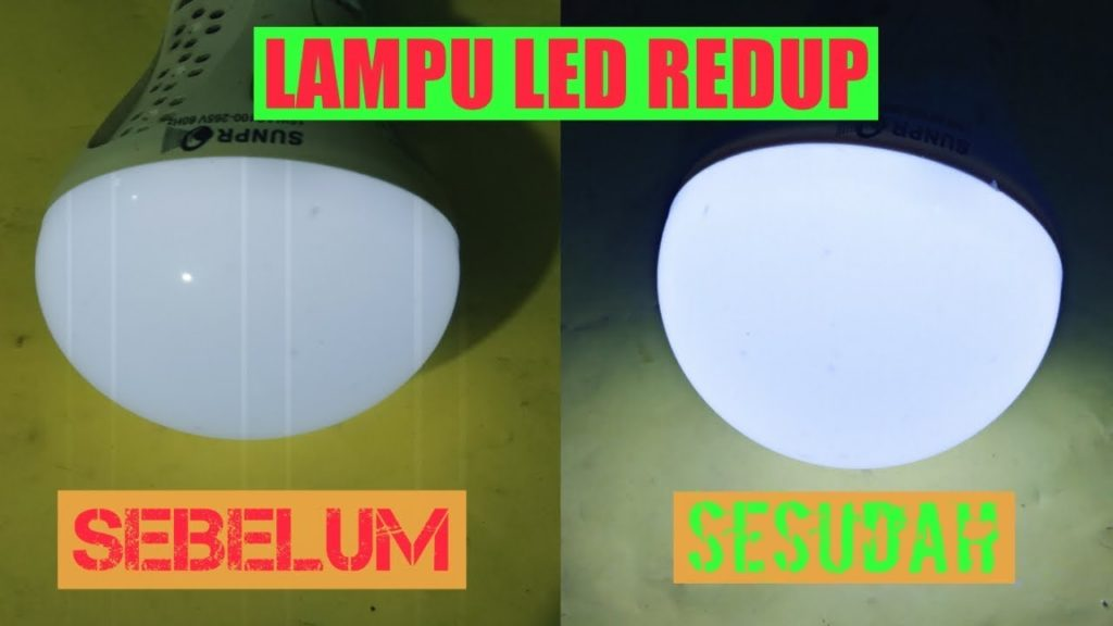 cara memperbaiki lampu led reduo