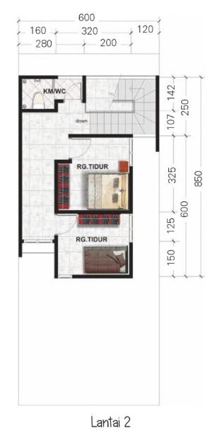 Denah Rumah Minimalis 2 Lantai - Rumah123.com