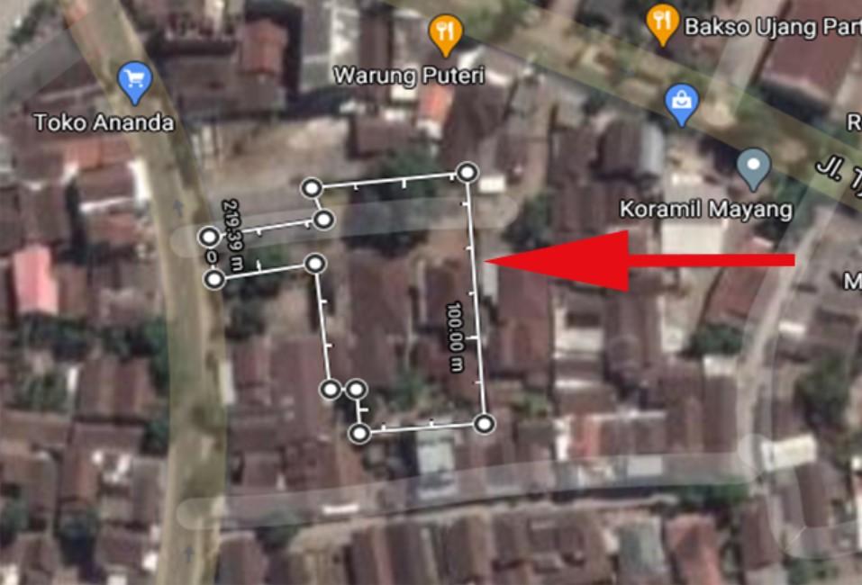 cara menghitung luas tanah dengan google maps