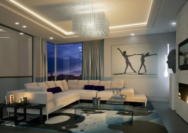 lampu gantung ruang tamu - rumah123.com