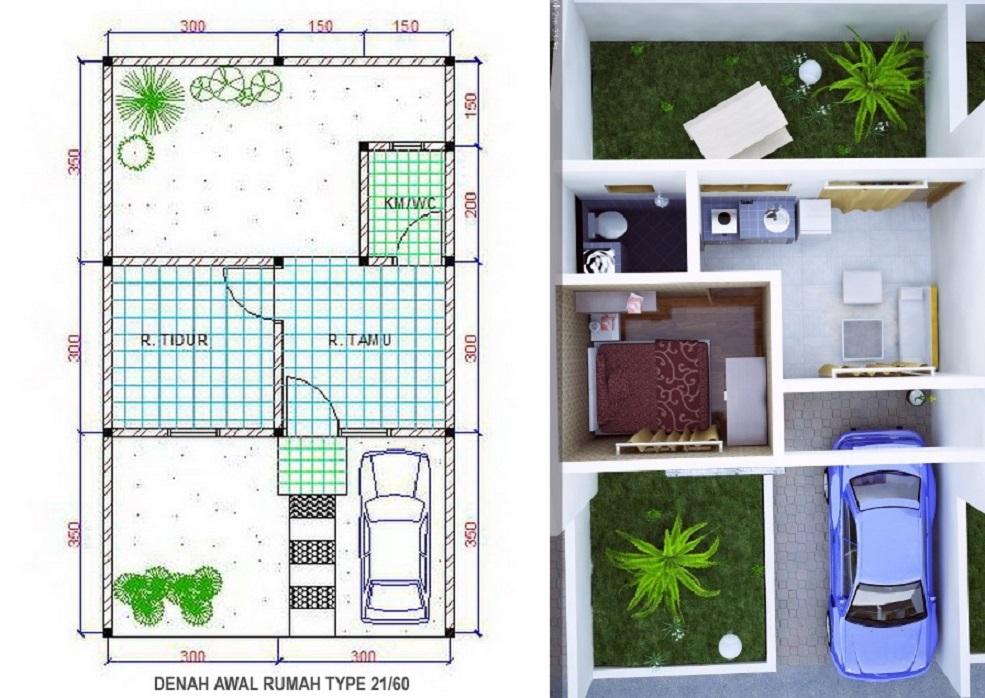Rumah Type 21: Berapa Ukuran, Harga Rumah, dan Biaya ...