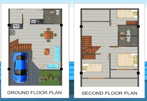 5 Contoh Gambar Denah Rumah Minimalis 3 Kamar Tidur Type ...