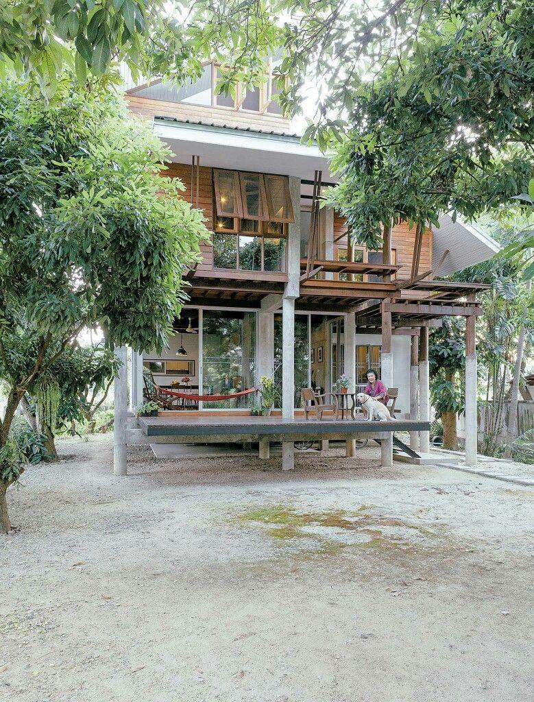 rumah panggung kayu modern