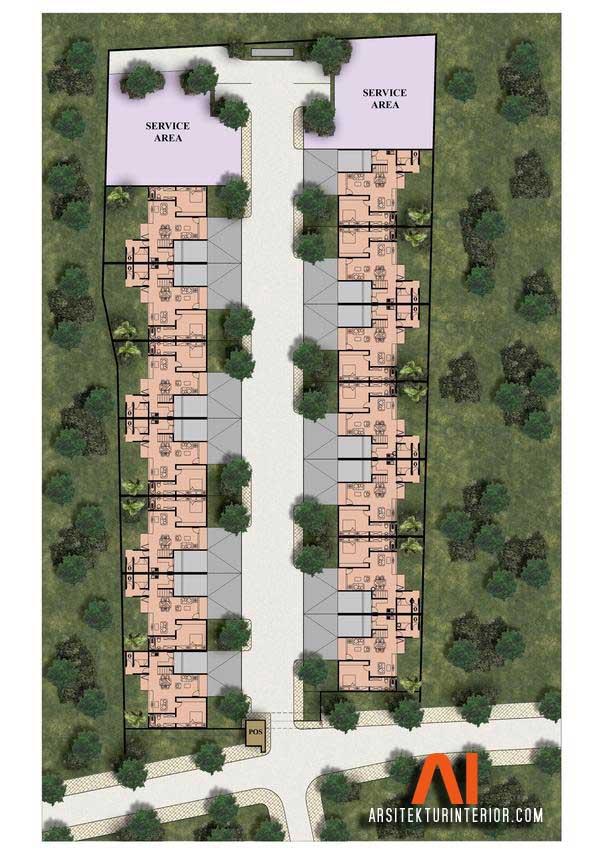 Site plan townhouse