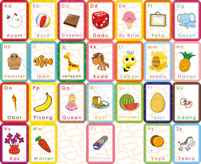 mainan edukasi anak flash card