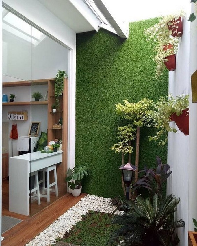 Desain Dinding Taman Depan Rumah
