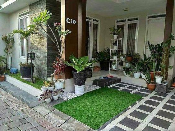 Teras Desain Taman Minimalis Depan Rumah