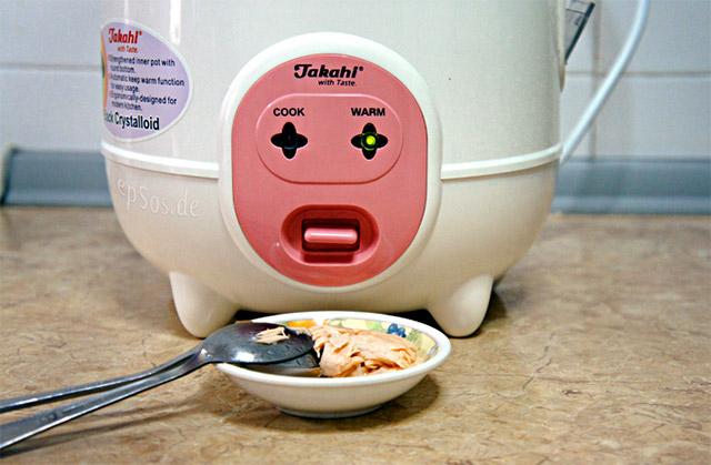 cara memasak nasi dengan rice cooker