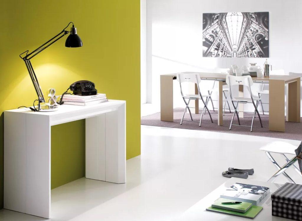 meja minimalis di rumah kecil