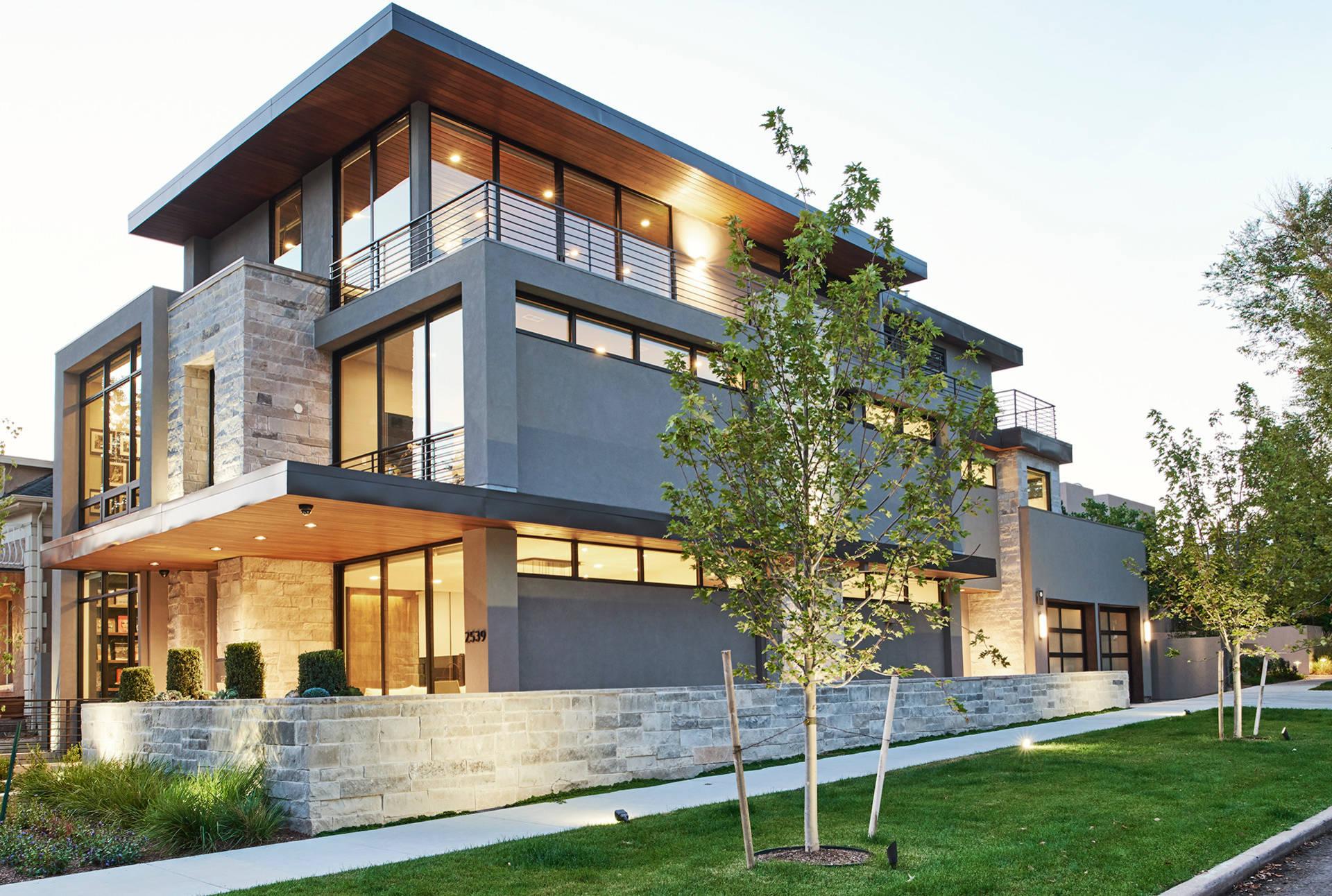 rumah minimalis bahan batu