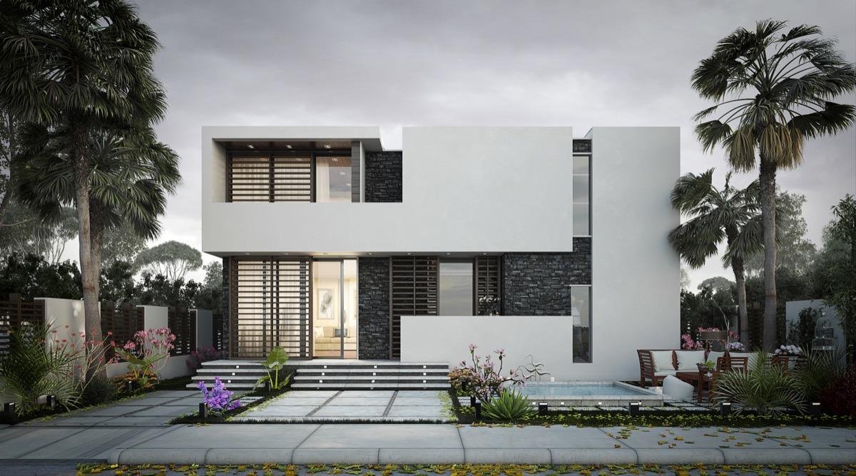 rumah minimalis dari beton