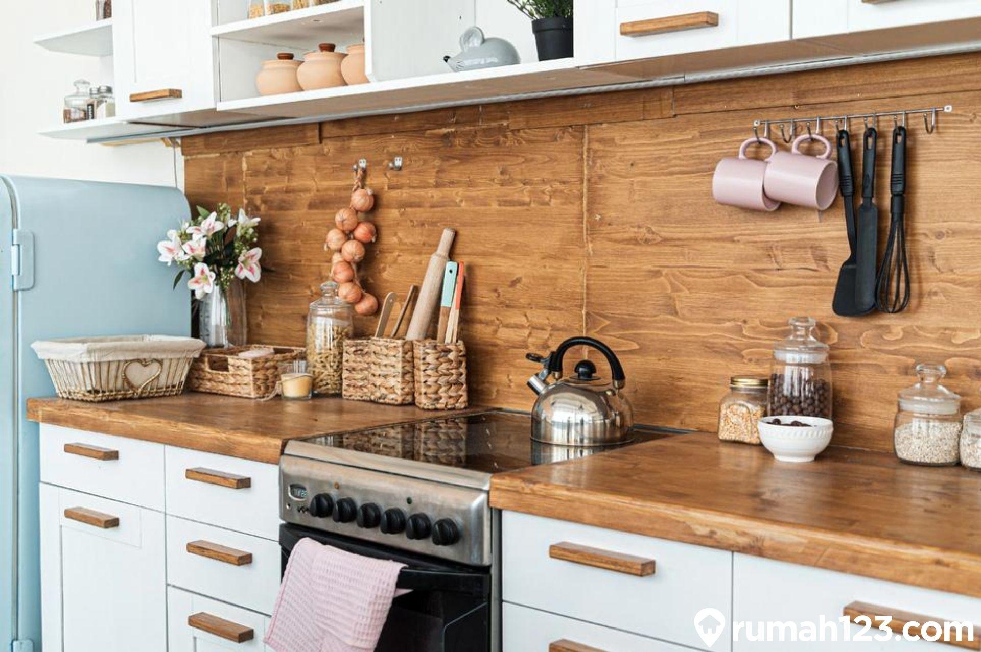 11 Inspirasi Keramik Dinding Dapur Kekinian Untuk Hunian Minimalis Rumah123 Com