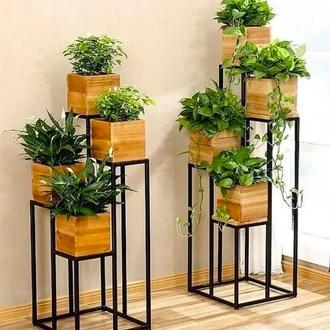 pot tanaman dari kayu