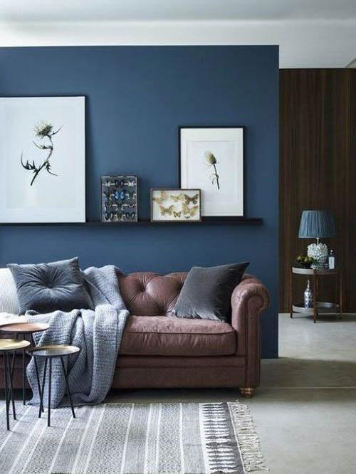 dinding warna navy blue