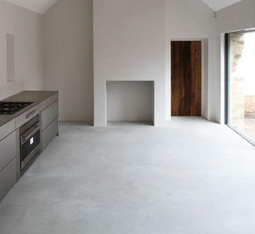 lantai plester unik