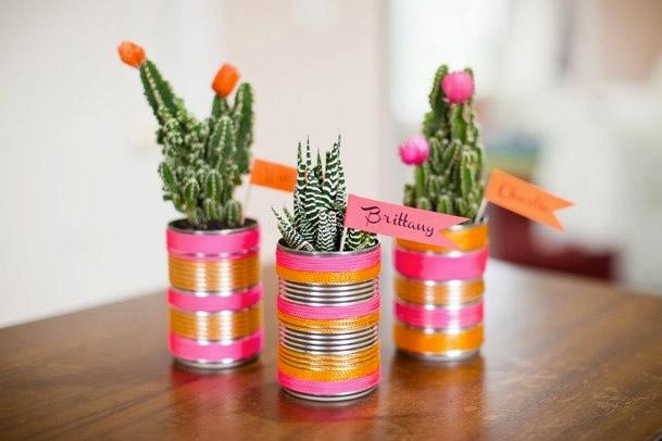 pot kaktus dari kaleng