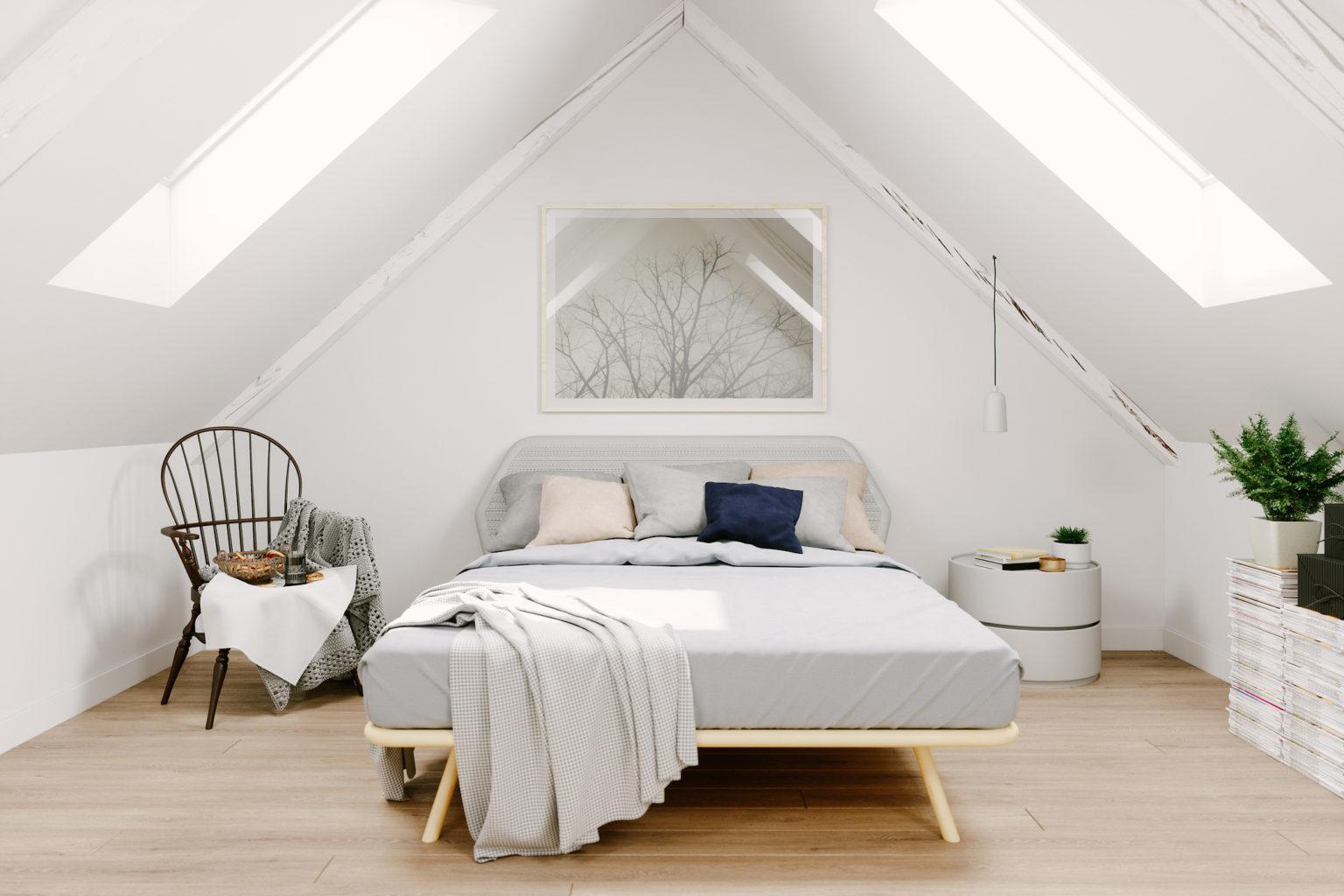 tempat tidur rumah scandinavian