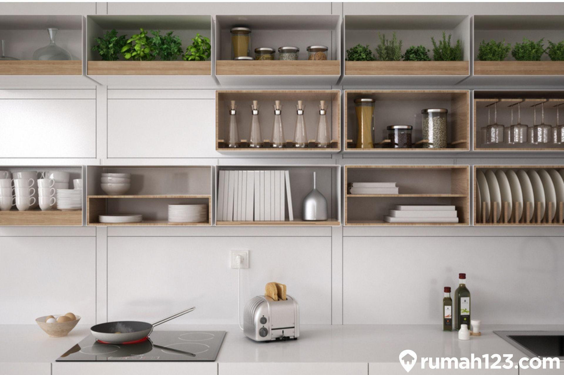 10 Desain Lemari Dapur Minimalis Fungsional Ini Bisa Kamu Tiru Di Rumah Rumah123 Com
