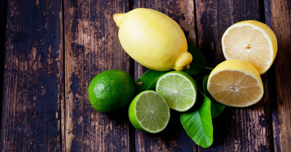 jeruk nipis dan lemon