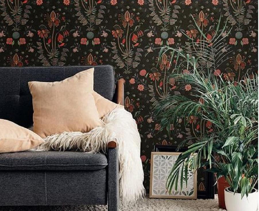 12 Desain Wallpaper Dinding Ruang Tamu Yang Keren Banget Mau Pasang Yang Mana Nih Rumah123 Com