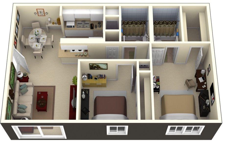 Apartemen 2 BR dan 3 BR