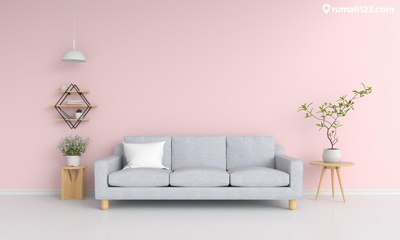 cat rumah pink pastel