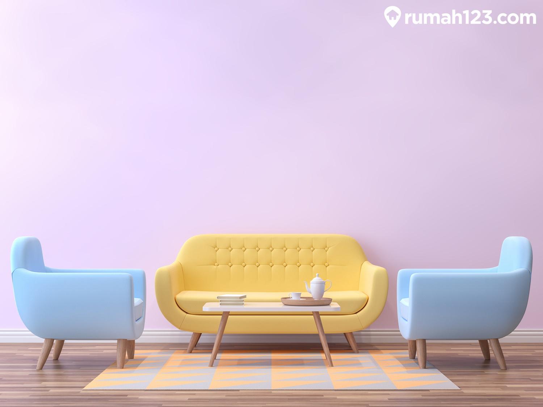 cat rumah ungu pastel