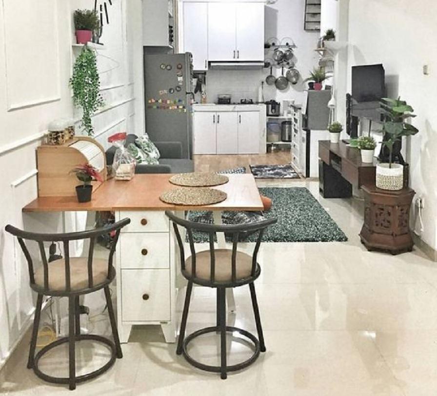 11 Dekorasi Ruang Makan Untuk Rumah Kecil Cocok Banget Nih Buat Kamu Rumah123 Com