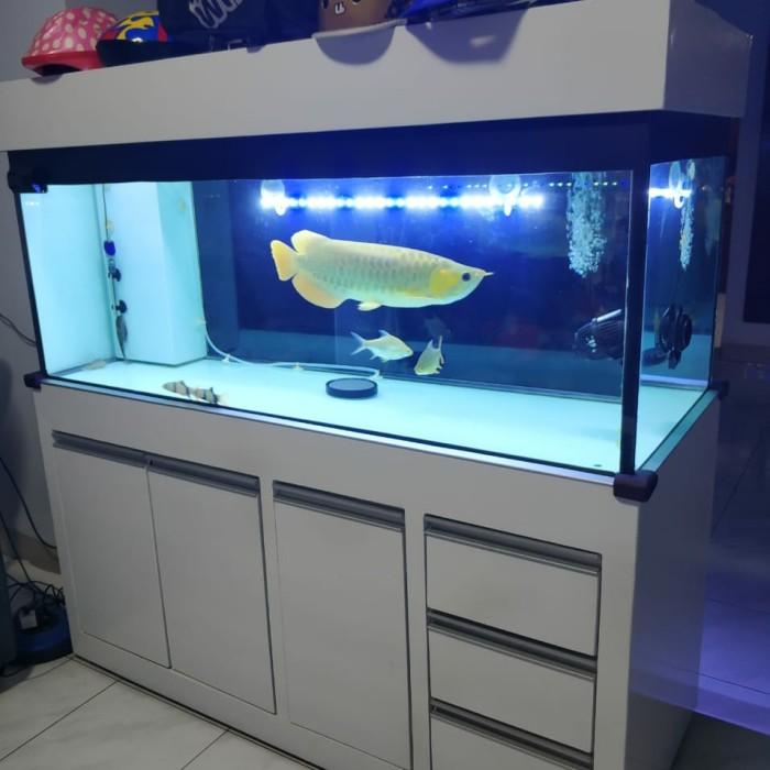 meja aquarium minimalis