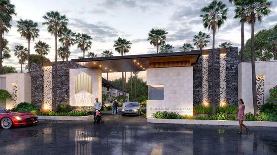 11 Desain Gapura Minimalis Terbaik Kompleks Rumah Auto Mewah Rumah123 Com