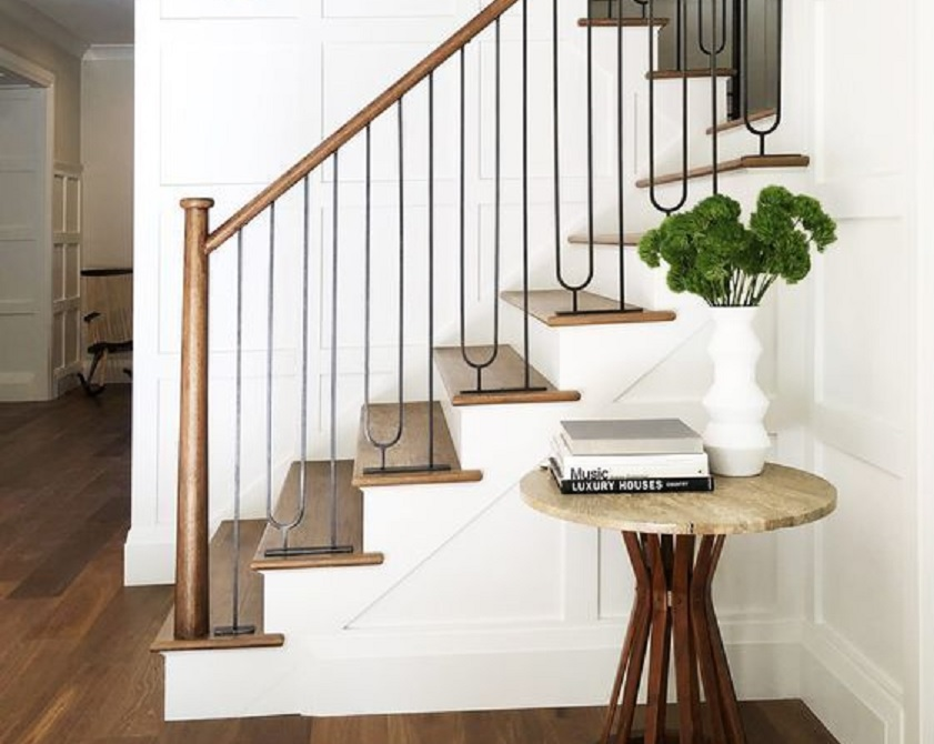 tangga kayu minimalis
