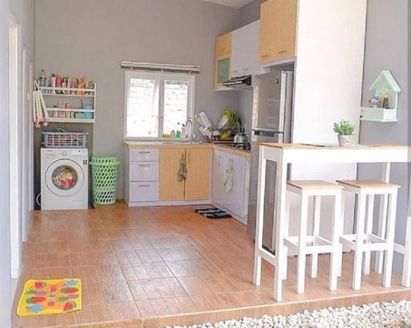 dapur minimalis terbuka