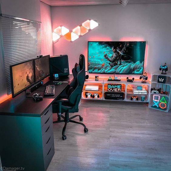 11 Desain Kamar Gaming Yang Bikin Kamu Makin Betah Di Rumah Rumah123 Com