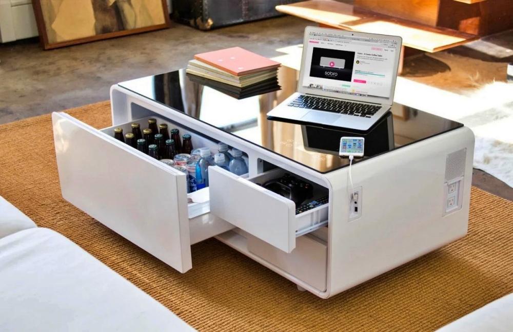 smart furniture sobro cooler tv table