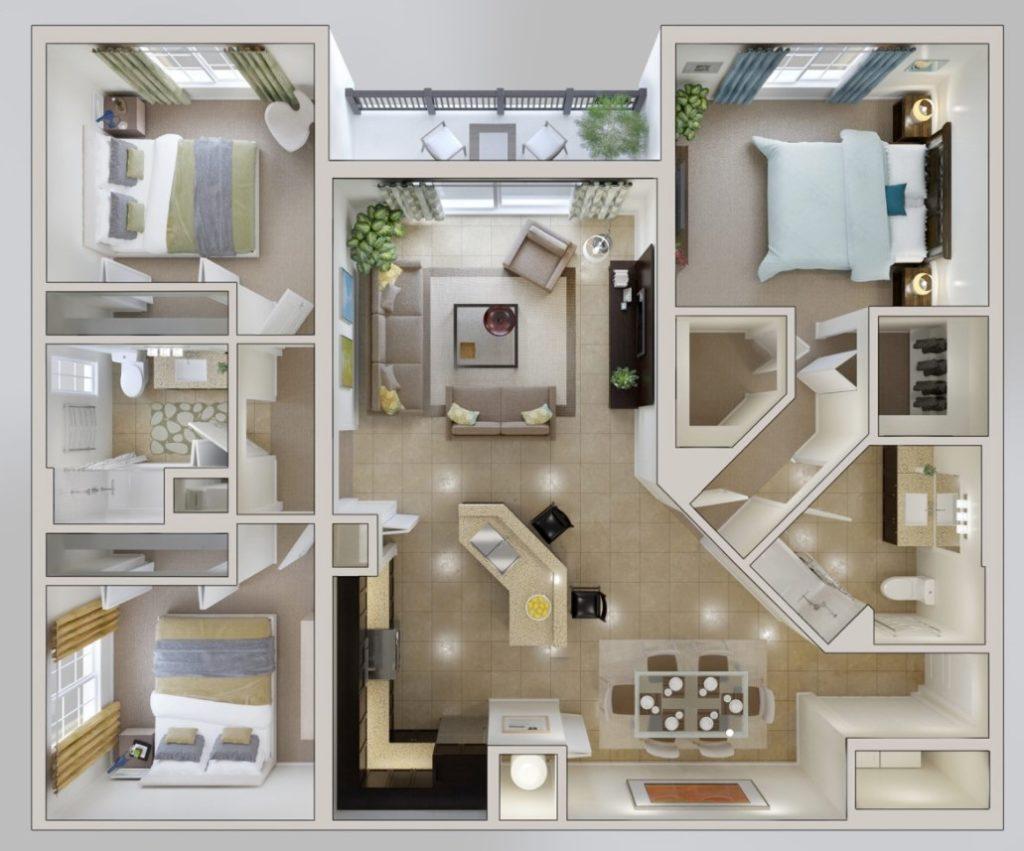 denah rumah minimalis 3 lantai
