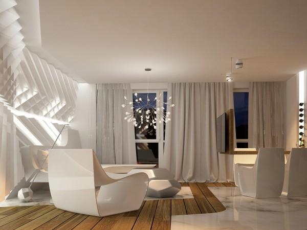 inspirasi desain interior futuristik