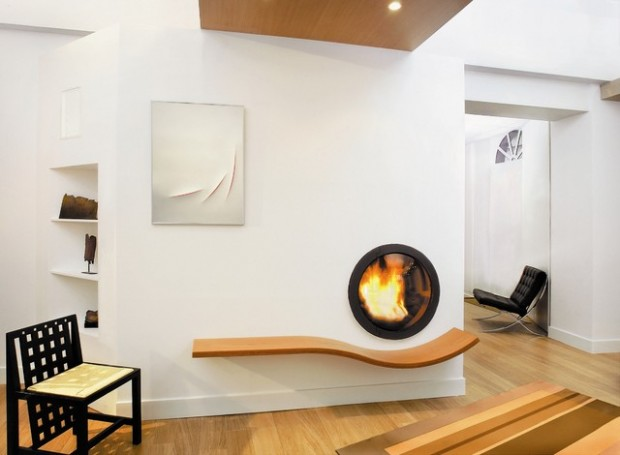 Interior Gaya Futuristik dengan unsur alami