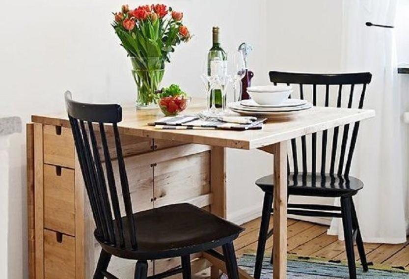 10 Rekomendasi Bentuk Meja Makan untuk Ruang Kecil, Pas Buat Rumah Type 36  | Rumah123.com