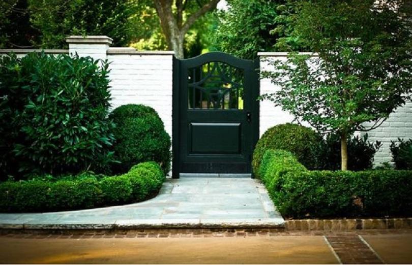 taman depan pagar rumah minimalis modern