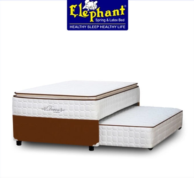 Elephant Spring BEd Murah 2 In 1 Devon / Induk dan Sorong - 100 x 200, Dark Brown