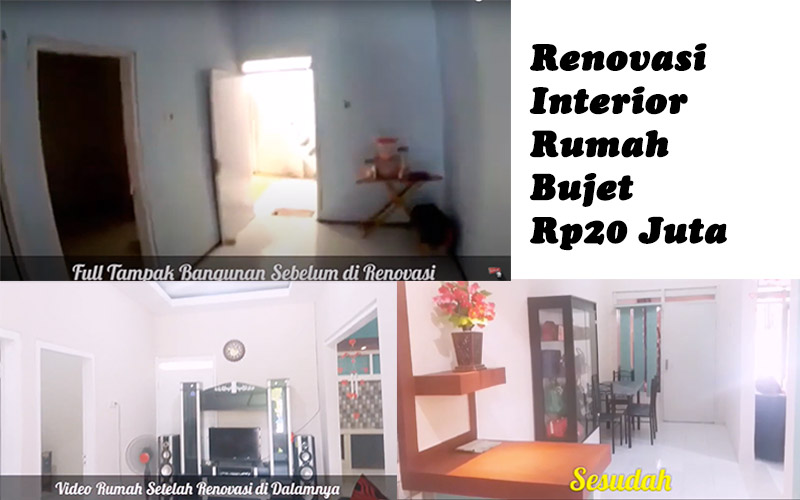 renovasi interior urmah budgeet 20 juta