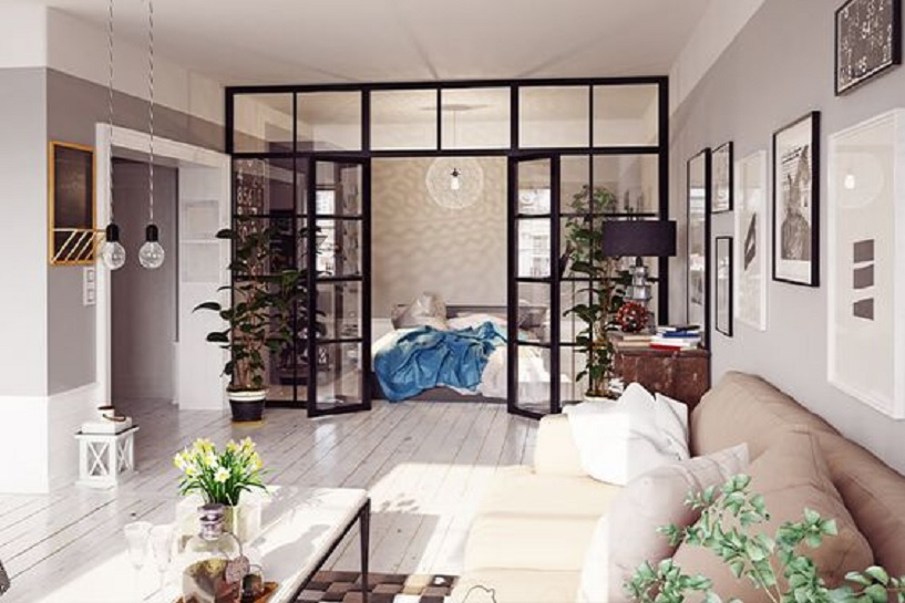 partisi ruangan rumah minimalis