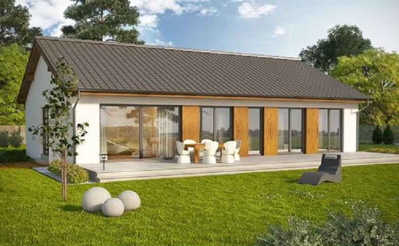 desain rumah memanjang ke samping