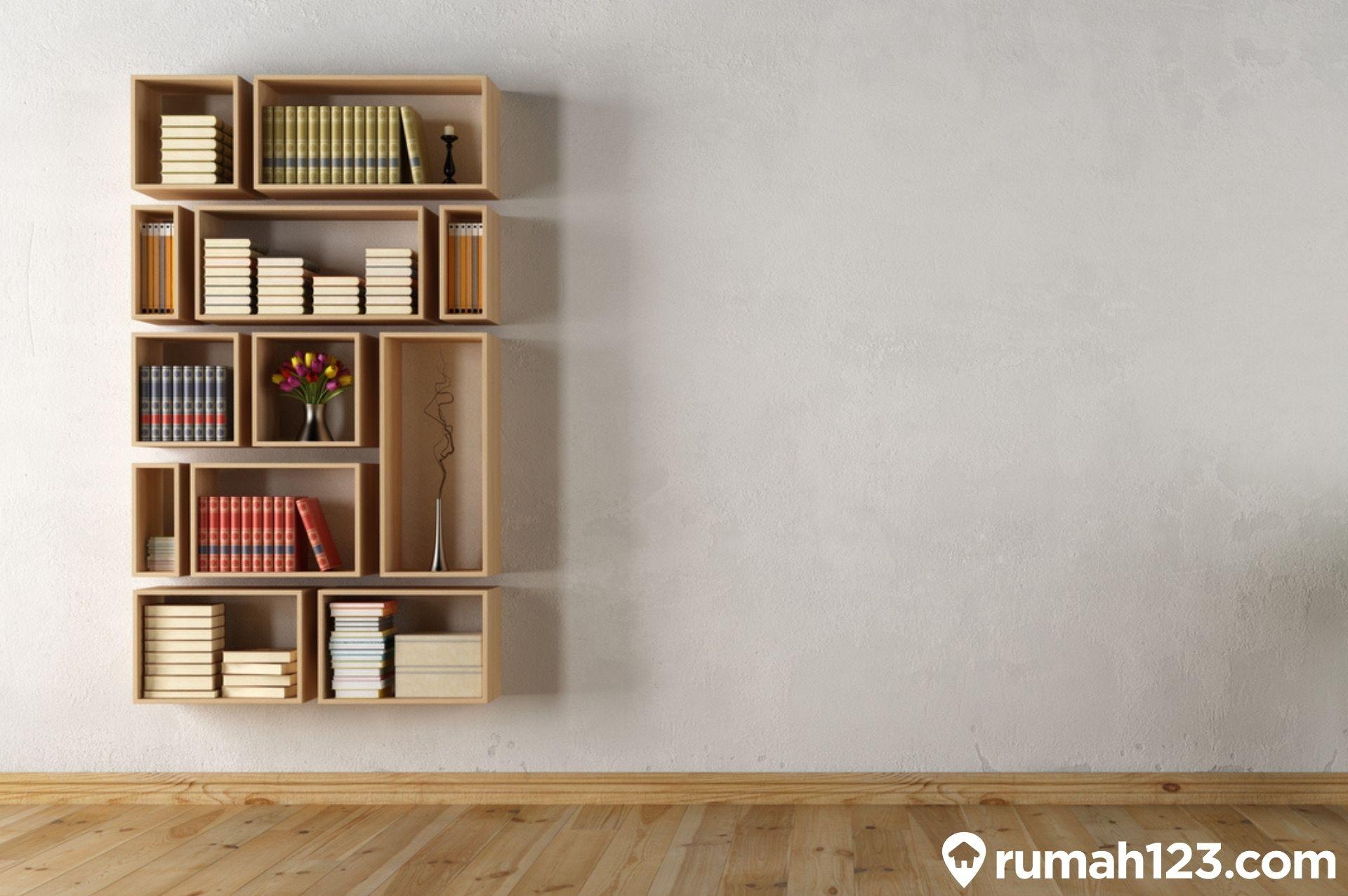 9 Rak Buku Minimalis dengan Harga Maksimal Rp500 Ribuan