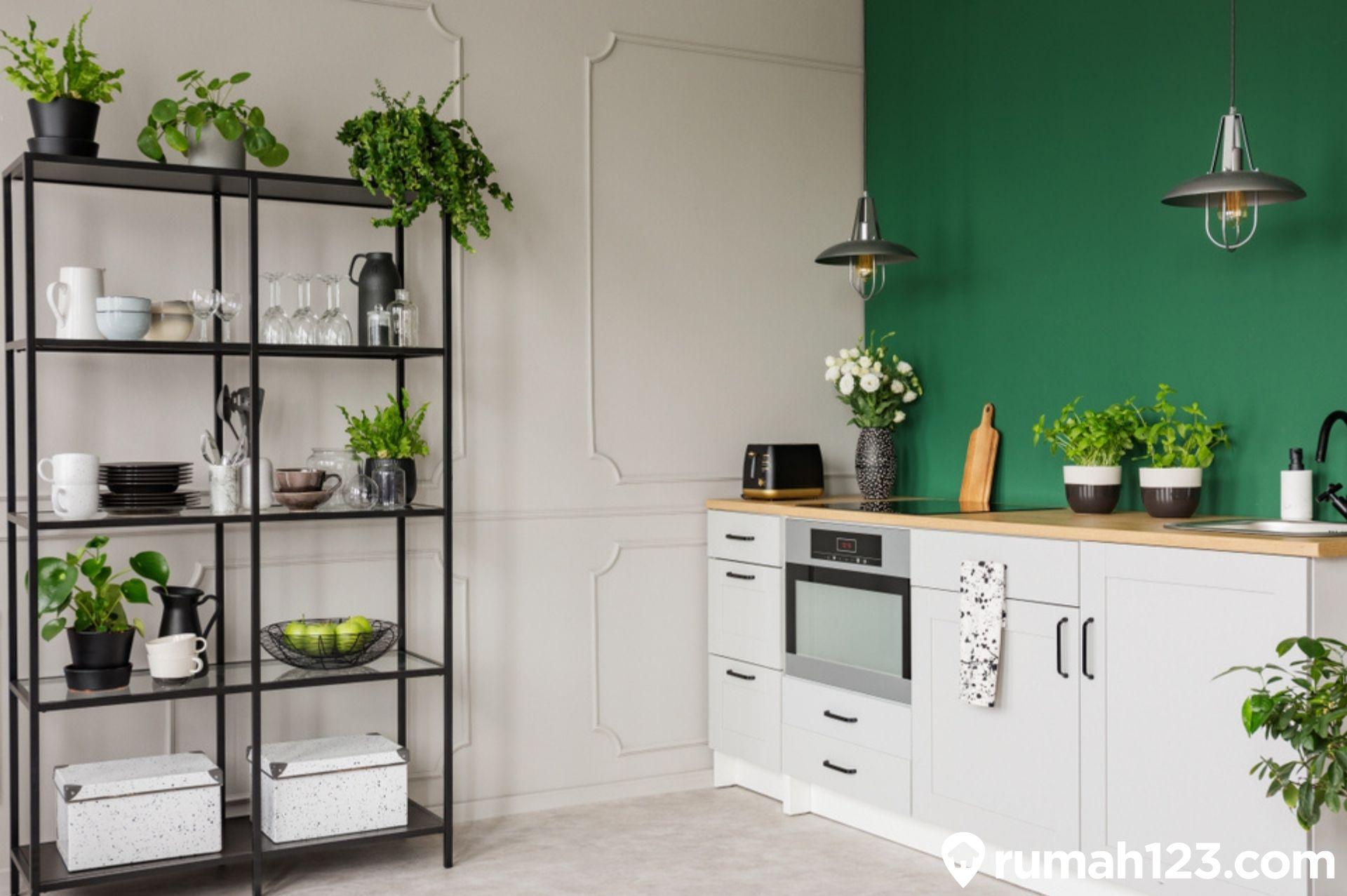 13 Dapur Minimalis Sederhana Terbaik dengan Sentuhan Hijau Nan Estetis