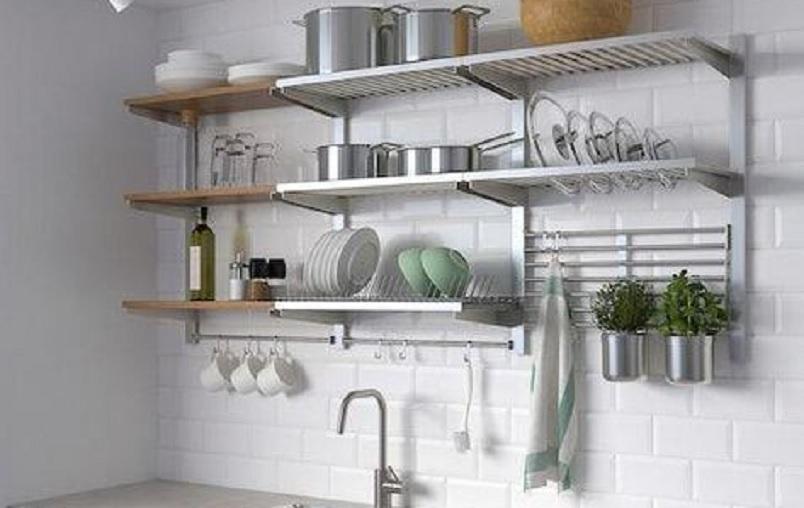 11 Inspirasi Desain Rak Gantung Dapur, Pastinya Jadi ...