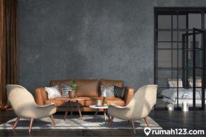11 Desain Ruang Tamu Minimalis Industrial Terbaik 2021