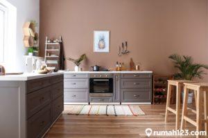 13 Dapur Minimalis Modern Kombinasi Coklat Tua Nan Estetis